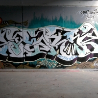 Serioh (Mundet) mural con Trybe y Oktubre